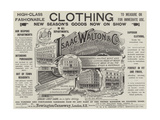 Advertisement, Isaac Walton and Company Giclee Print