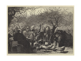 A Fete Day in Normandy after the Apple Harvest Giclee Print