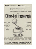 Advertisement, Edison-Bell Phonograph Giclee Print