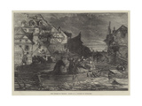 The Floods in France, Scene in a Suburb of Toulouse Giclee Print
