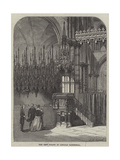 The New Pulpit in Lincoln Cathedral Giclee Print