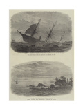 Wreck of the Mail Steam-Ship Rangoon at Galle Giclee Print