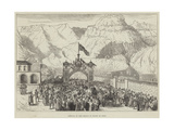 Arrival of the Prince of Wales at Aden Giclee Print