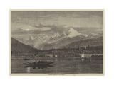 Shooting Grebe on Lake Geneva Giclee Print