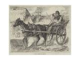 A Rural Postman in Hungary Giclee Print