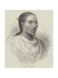 King John of Abyssinia Giclée-tryk