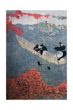 Fishing, Yukihide, Tosa School, Silk Painting, Japan, 15th Century Giclee Print