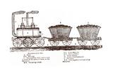 Blenkinsop's Rack Locomotive, C. 1814 Giclee Print