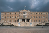 Facade of a Government Building, Parliament Building, Athens, Greece Giclee Print