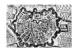 Great City of Milan, of Map of Milan, Italy, 17th Century Giclee Print