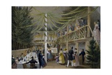 Party at Hotel Europa in Vienna, Print, Austria, 19th Century Giclee Print