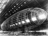World's Largest Dirigible Near Completion, Published 1930S Giclee Print