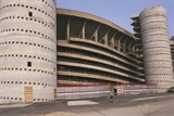 Low Angle View of a Stadium, San Siro, Milan, Lombardy, Italy Giclee Print