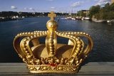 Golden Crown on Skeppsholmsbron Bridge, Stockholm, Sweden Giclee Print