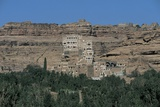 Palace on a Cliff, Rock Palace, Dar Al-Hajar, Wadi Dhahr, Yemen Giclee Print