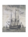 Ship with 118 Guns, Russia, 18th Century Giclee Print