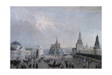 Red Square with Cathedral of Protection of Most Holy Theotokos on Moat or Saint Basil's Cathedral Giclee Print