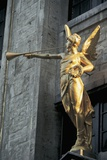 Low Angle View of a Statue, Grand Place, Brussels, Belgium Giclee Print