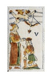 Tarot Card Depicting Lovers, 16th Century, Italy Giclee Print