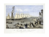 The New York Yacht Club Regatta, Pub. Currier and Ives, 1869 Giclee Print