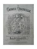 The Chimes Quadrille, Lancelott Song Sheet, 1855 Giclee Print