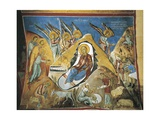 Paintings of the Nativity Scene, Panagia Too Araka, Lagoudera, Cyprus Giclee Print