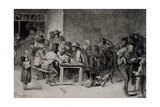 Interior of Tavern, 1859, France, 19th Century Giclee Print