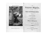 Frontispiece and Titlepage of The Conjuror's Magazine, Pub. 1792 Giclee Print