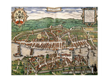 Map of Zurich, 1575 Giclee Print