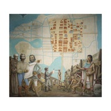 Three Men Standing in a Construction, Mexico City, Mexico Giclee Print