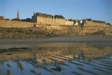Reflection of a Town in Water, St Malo, France Giclee Print