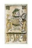 Tarot Card Depicting Magician, 16th Century, Italy Giclee Print