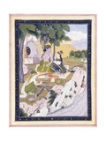 Rama and Sita with Lakshman, C. 1800 Giclee Print