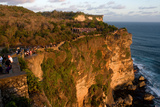 Tourists Along the Cliffs Next to the Ulu Watu Temple Pura Luhur, Bali Photographic Print