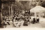 The Terrace of the Cafe Du Casino, Le Mont Dore, France, 1880 Photographic Print