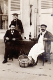 Fresh Oysters on the Terrace of a Bistro, Paris, 1900 Photographic Print