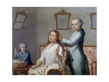 The Hairdresser, Painting, Mexico, 18th Century Giclee Print