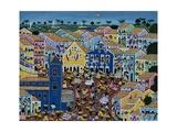 Naive Art Painting Depicting Market, Bahia State, Brazil Giclee Print