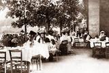 Terrace of the Restaurant Berger, Paris, 1895 Photographic Print