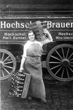Woman Carrying Beer Bottle from the Hochschul Brewery in Berlin, 1916 Photographic Print