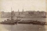 Custom House and Billingsgate Market, London, C.1885 Photographic Print