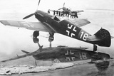 Messerschmitt Me 109 Aircraft on an Air Stip Photographic Print