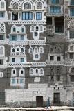 Detail of Building in Sana'A (Unesco World Heritage List, 1986), Yemen Photographic Print