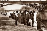 Anglers, Paris, 1900 Photographic Print