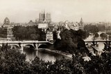 View of Pont Neuf and Notre Dame, Paris, 1890 Photographic Print