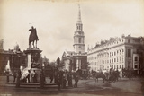 Trafalgar Square, London, C.1885 Photographic Print