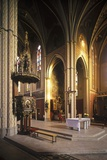 Interior of the Church of St. Ludmila, Prague, Czech Republic Photographic Print