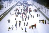 Ice Skating, Winterlude, Winterlude Festival, Ottawa, Ontario, Canada Papier Photo