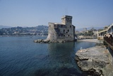 Castle on the Sea, 16th Century, Rapallo, Liguria, Italy Photographic Print