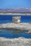 Cape Falcone Tower or Pelosa Tower, Sardinia, Italy Photographic Print